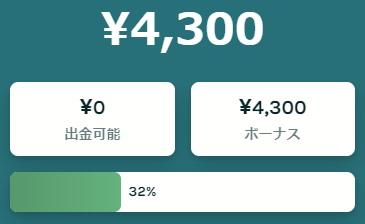 残高¥4300