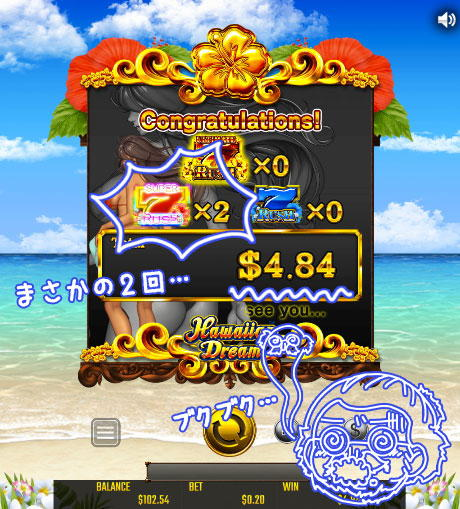 HAWAIIAN DREAM 赤7の2連