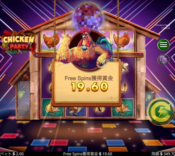 CHICKEN PARTY 厳しい配当