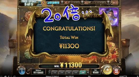 ¥11,300で終了