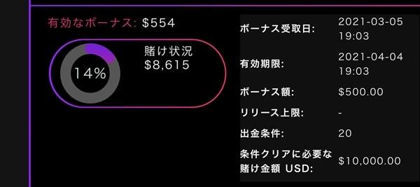 残り$8,615