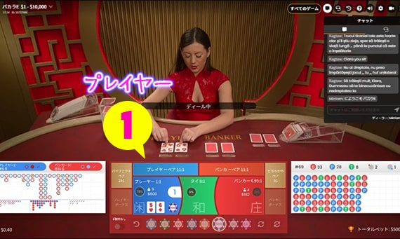 プレイヤーは「1」