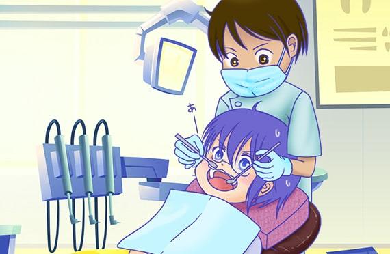 歯科治療に行くしんちゃん