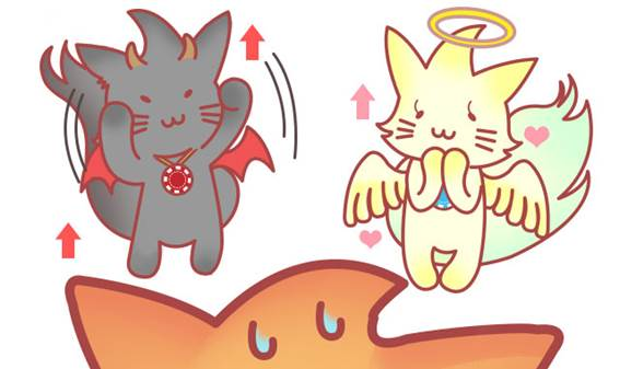天使と悪魔のメープル