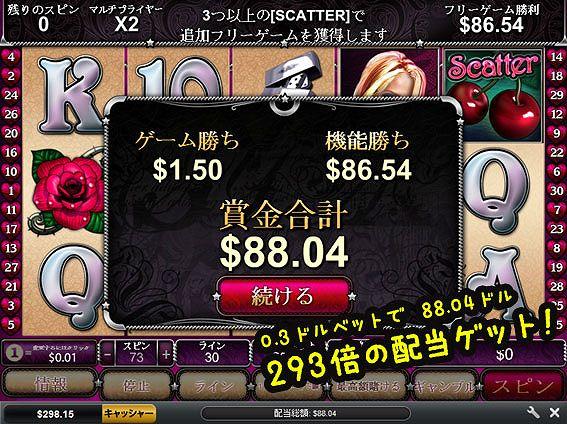 Cherry Love88ドル獲得