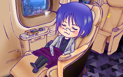 新幹線に乗るしんちゃん