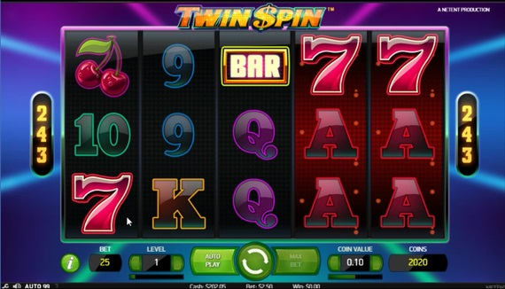 twin spinスロット243ways