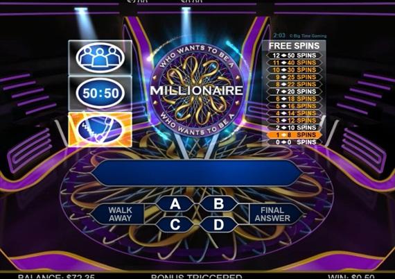 BTGのMillionaire slotのフリースピン回数