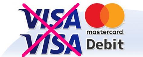 ジパングカジノのVisaカード不可
